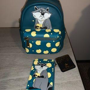 Loungefly Disney Meeko Micro Mini Backpack Set